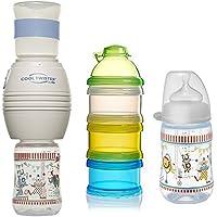 240ML Lansinoh Glas Weithalsflasche mit NaturalWave Sauger Fütterungsflasche