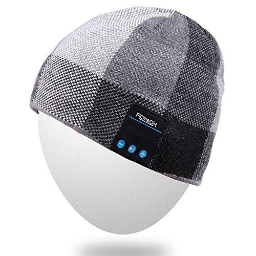Mydeal Drahtlose Bluetooth Strick Mütze Kopfhörer Musik Cap für Frauen Männer Outdoor Sports mit Lautsprecher & Mic, kompatibel mit iPhone 7/7 plus, Samsung, beste...