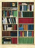 1art1 40581 Bücherregale - Bibliothek 4-teilig, Fototapete Poster-Tapete (254 x 183 cm)