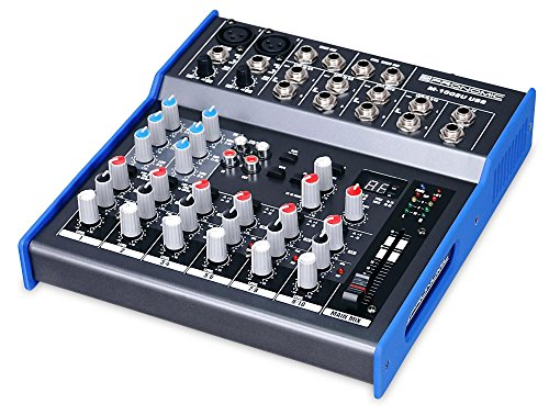 Pronomic M-1002UD USB Live/Studio Mischpult mit USB Schnittstelle (2 Mono-Kanäle XLR/Klinke, 4 Stereo Kanäle, Effektgerät, 3-Band-EQ, 48V Phantomspeisung)