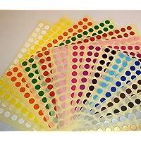 Audioprint Ltd. 6mm Circulos de Color Puntos ID Etiquetas Pegatinas Calcomanias - 6mm, Variado
