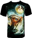 Rock Chang T-Shirt * Dreaming Cat * Chat Rever * Noir R703