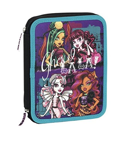 Monster High – Plumier Doble, 56 Piezas, 20 x 24 cm (SAFTA 411344056)