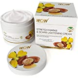 WOW Stretch Marks and Scar Lightening Cream - No Parabens and Mineral Oils - 200 ml