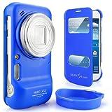 Imak Coque de protection imitation cuir pour Samsung C101 Galaxy S4 Bleu