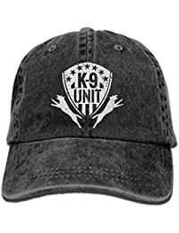 1938f95090f4c Zcfhike K-9 Unidad Unidad de Perro de policía Malinois Papá Sombrero  Sombrero de Mezclilla Ajustable Gorra de…