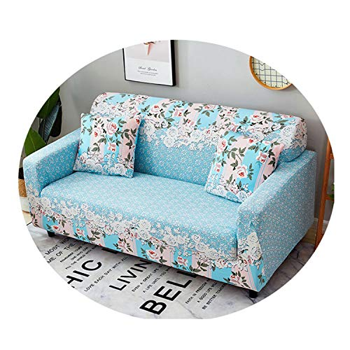 84-zoll-bar (Floral Elastic Sofa Cover Sectional Stretch Slipcovers for Living Room Couch Cover L Shape Armchair Cover 1/2/3/4 Seat GL-Tian Yuan mu ge 1 Pillowcase)