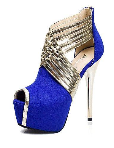 WSS 2016 Chaussures Femme-Décontracté-Noir / Bleu / Rose / Gris-Talon Aiguille-Talons-Talons-Laine synthétique pink-us5 / eu35 / uk3 / cn34
