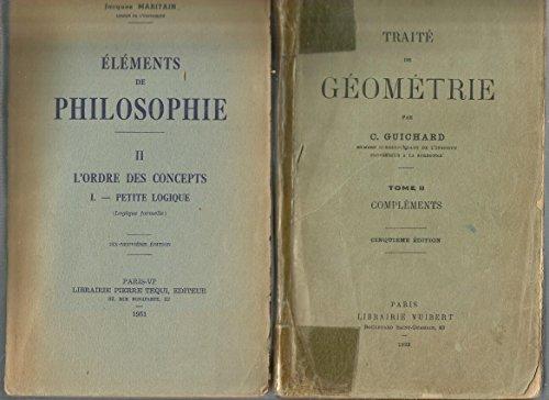 Traite de géometrie 2 vol par Guichard C.