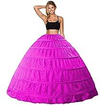 Babydress Vestido de Novia Enagua Aros Enaguas Enteras 6 Aros Crinolina para Mujer Faldas Vestidos para