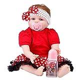 Upxiang Lebensecht Reborn BabyPuppe 55cm Neugeborene Doll Kinder Boy Playmate Geburtstag Weihnachten Geschenk Kinder Spielzeug (Wie Gezeigt)