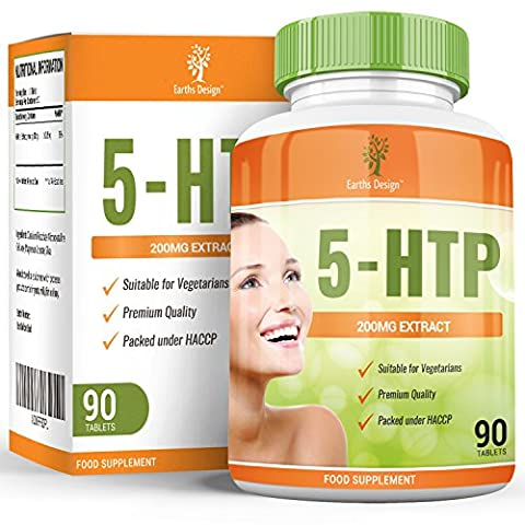 70% OFF SALE! 5-HTP - Double Strength 200m - Tryptophan - Griffonia Simplicifolia - Suitable for Vegetarians - 90 Tablets (3 Month Supply) by Earths Design