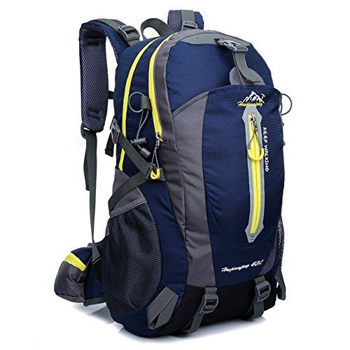 Zuoao 40L Damen Herren Trekking Fahrradrucksack ,Wasserdichter Wanderrucksack Reiserucksack Rucksack für Outdoor Trekking Camping, Wandern, Reisen und Bergsteigen Blau