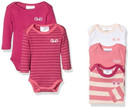 Twins Baby-Mädchen Body langarm, 5er Pack, Rosa (Pink 230), 50
