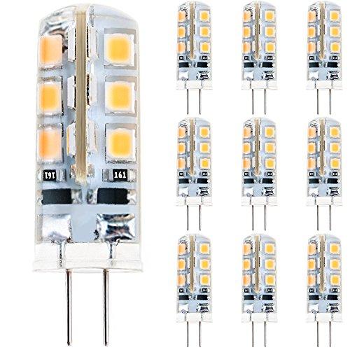 Anpro 10 Stück Glühbirne 2 Watt DC 12V G4 24 LED Lampe...