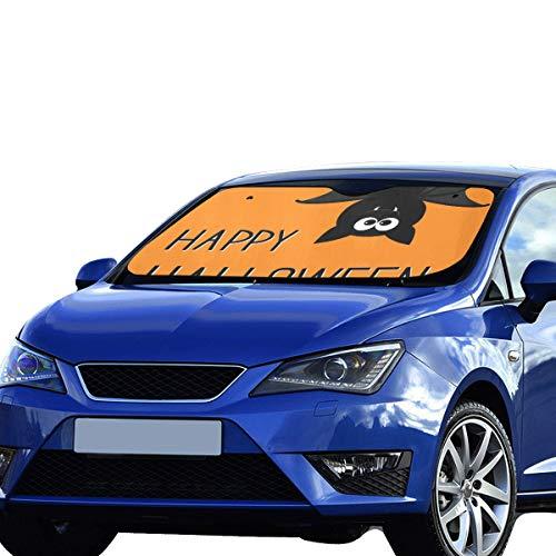 Windschutzscheibe Abdeckung Halloween Orange Scary Eye Fliegende Fledermaus Sonnenblende Universal Fit Vorne Halten Reflektor Geländewagen LKW 55
