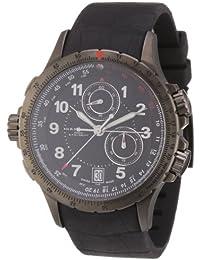 Hamilton H77672333 - Reloj analógico de cuarzo para hombre, correa de goma color negro