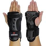GWELL Funktion Handgelenkschoner Handschützer Handschuhe Atmungsaktiv Elastisch Ski Protektor Snowboard Motorradfahren M