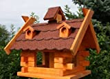 Vogelhaus rechteckig behandelt rot Typ 8