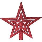 Árbol de Navidad de la punta de árbol de Navidad de la punta de la punta de estrella de árbol de Navidad-con forma de estrella de Navidad con diseño de Navidad
