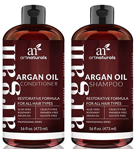 ArtNaturals Jeu de shampooing et le revitalisant huile d'argan marocaine bio (2 x 6 oz) - sulfate gratuite