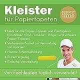 Tapetenkleister Papier Tapete Kleister Fototapete 100g (ca.14-15 m2) - Ideal für Fototapeten, optimales & praktisches Dosieren 2 x 50g Päckchen