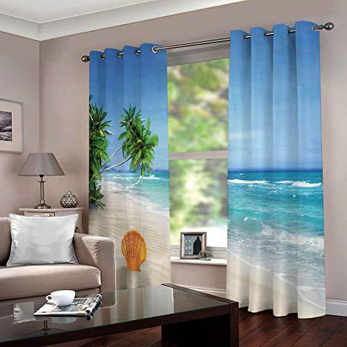 Zfszsd tenda oscurante oscurante bambinimare termiche isolanti tende stampate per camera da letto blu acciaio due pannelli dimensioni:l234cmxa183cm