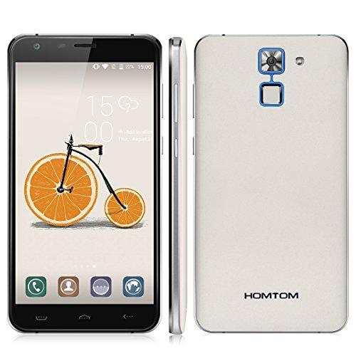 HOMTOM HT30 Pro - 4G LTE Smartphone ohne Vertrag, 5.5 Zoll, Android 7.0, MTK6737 1.3GHz Quad-Core, 3GB RAM UND 32GB ROM, 3000mAh, Fingerabdruck, Dual Kamera, Dual SIM (Weiß)