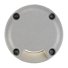 Slv 227381 - Parcela llevado cubierta redonda, 1 ranura, gris plata