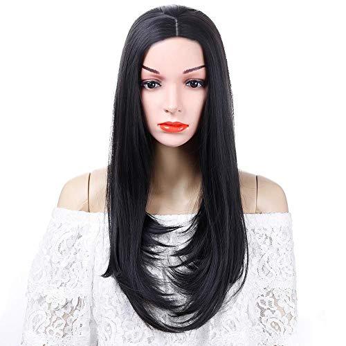 ge Natürliche Bob Weibliche Perücke Hitzebeständige Synthetische Haarperücken Für Frauen Lange Perücke Mit Haarteil, 16Inches, B ()