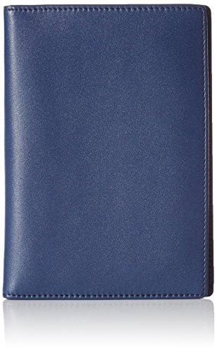 AmazonBasics - Portadocumenti in cuoio, con blocco RFID, Blu navy