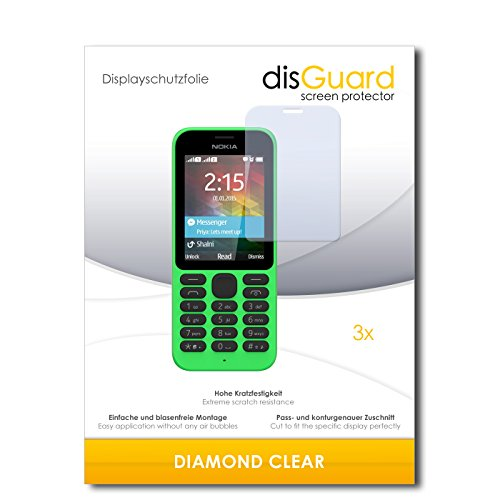 3 x disGuard® Schutzfolie Microsoft Nokia 215 Bildschirmschutz Folie