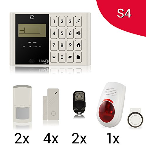 Kit Antifurto M2C Allarme Casa Wireless Gsm con 4 Sensori, 2 Sensori ...