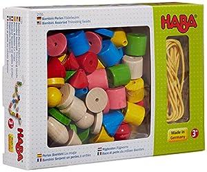 HABA 2155 - Juego Infantil para enhebrar, Figuras geométricas