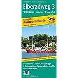 Elberadweg 3, Wittenberge - Cuxhaven: Radtourenkarte Leporello mit Ausflugszielen, Einkehr- & Freizeittipps, wetterfest, reissfest, abwischbar, GPS-genau. 1:50000