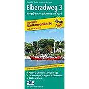 Elberadweg 3, Wittenberge - Cuxhaven: Leporello Radtourenkarte mit Ausflugszielen, Einkehr- & Freizeittipps, wetterfest, reissfest, abwischbar, GPS-genau. 1:50000