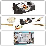 Sushi de Maker para fabricación de Maki y Sushi (Sushi de Kit de Juego, arroz de Roller, 2Cuencos de salsas, cuchara de madera, madera de varillas)