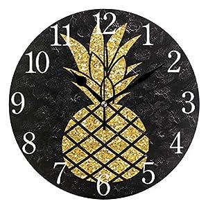 Mnsruu Reloj de pared redondo
