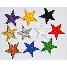 Paquete de 10 mixta hierro-en o coser - en la estrella de parche