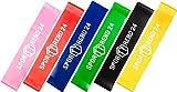 Sporttrend 24 Mini Bänder 0,35-1,3mm in Verschiedenen Farben I Resistance Bands Fitnessbänder Widerstandsbänder Loops (Schwarz)