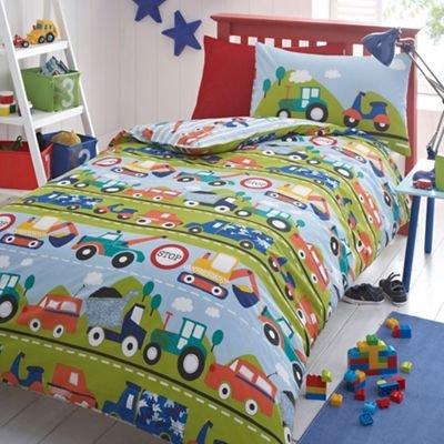 Bluezoo Kids Boys Transport Duvet Cover Set by Debenhams