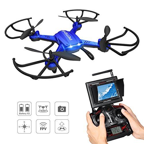 Potensic Drohne mit 5.8GHz 6-Achsen-Gyro 2MP HD Karmera Blau