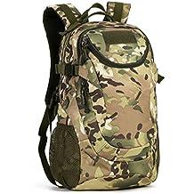 cinmaul Militar Molle mochila mochila Asalto Táctico mochila 25L hombro Mochila para la caza Camping senderismo viajes, hombre, CP Camouflage