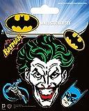 Batman Poster-Sticker Autocollant - Joker, Vinyl Sticker Set (12 x 10 cm)