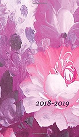 2018-2019: floral day planner, 24 month pocket planner, 4x7 inches