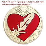 zijianZZJ Gedenkmünze, seltene Federmünze wie Bitcoin-Gold überzogenes rotes Herz-Liebes-Zeichen Feathercoin-Andenken