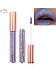 TOPBeauty Sexy Glitzer Lip Makeup Wasserdichte Lip Gloss Meerjungfrau Farbe Nude Glitter Schimmer Focallure Lippenstift Lip #35