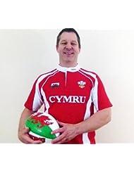 WelshSuperstore Maillot de Rugby pour enfant Taille 'Hakka'9–10y kg