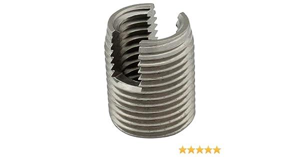 selbstschneidend VA Gewindeeins/ätze - NIRO M8 - SC-Normteile/® 20 St/ück SC9058 - aus rostfreiem Edelstahl A1 mit Schneidschlitz