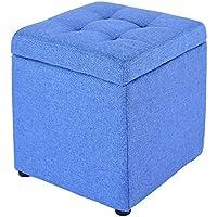 stool Hocker - Aufbewahrungshocker, zu Hause multifunktionales Kissen Aufbewahrungssofa Hocker, Kleine Bank für Wohnzimmer